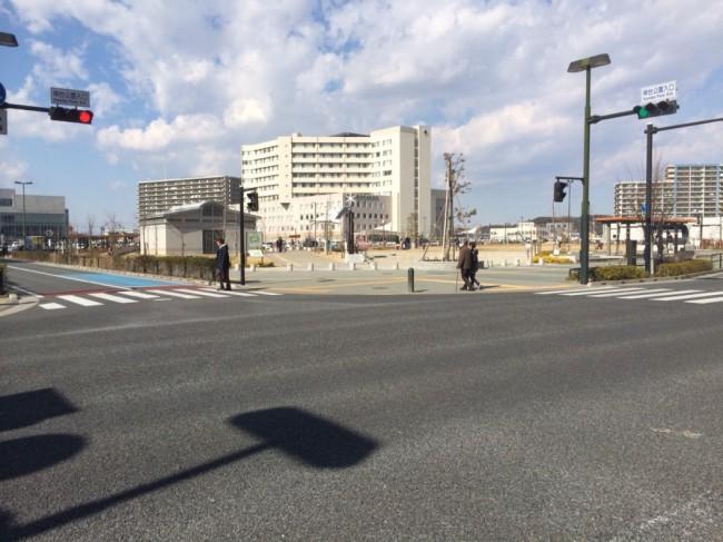 信号が設置された交差点「神台公園入口」